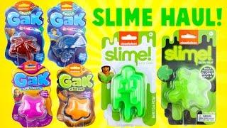 Nickelodeon Slime and Gak Haul! Glitter, Glow in the Dark and More!