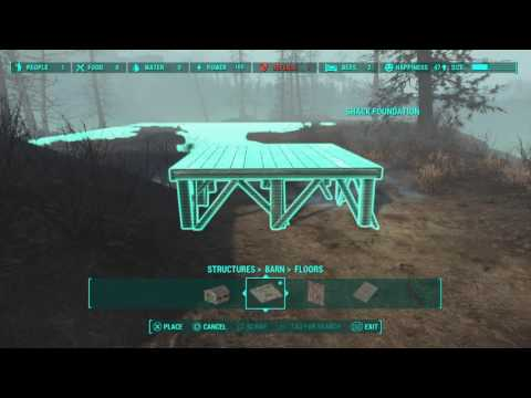 Fallout 4: Longfellow's Cabin - Making The Ground More Usable Part 1 (PS4, No Mods, duh)