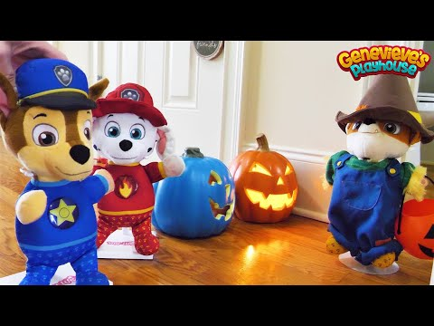 Paw Patrol Baby Pup Halloween  & Cooking Contest Toy Learning Videos for Kids!