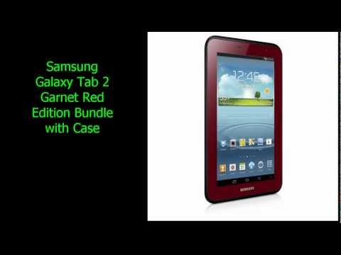 Samsung Galaxy Tab 2 Garnet Red Edition Bundle with Case