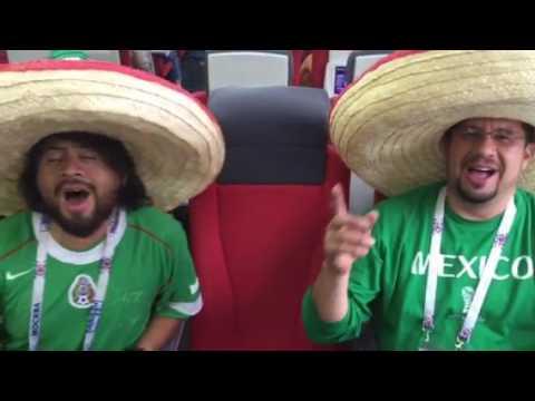 Мексиканские болельщики празднуют победу над сборной России на Кубке конфедераций