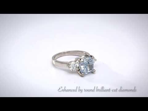 Fancy Blue Diamond, Diamond, Platinum Ring
