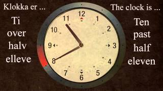 Re-uploaded by request. Charlotte reads a standard clock with hands på norsk . In part two, I will show how military time is used for (business hours, government ...