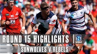 Sunwolves v Rebels Rd.15 2019 Super rugby video highlights | Super Rugby Video Highlights