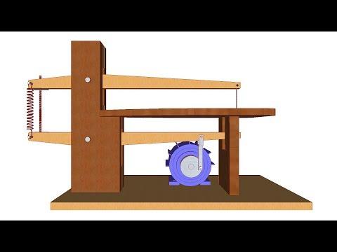 sierra casera - Sierra de calar en 3D, con medidas y planos, construye una de forma fácil y económica. Sierra caladora de mesa casera para corte de madera hecha con madera. ...