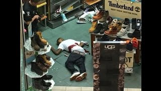 """A gunman has been shot dead by off-duty police officers after some sort of altercation at the Northlake Mall in Charlotte, North Carolina, officials say. The incident began at about 2 p.m. ET on Thursday when an argument started inside the mall between two groups of people. """"There was one armed subject that was shot during the altercation and he was pronounced deceased on scene by Medic,"""" the Charlotte-Mecklenburg Police Department said in a statement.The sounds of gunfire prompted hundreds of terrified shoppers to flee from the mall or to seek cover in stores. Witnesses reported hearing at least seven gunshots being fired, but it was not immediately clear how many - if any - of the shots were fired by the armed subject. None of the officers were injured.The Mecklenburg EMS Agency (Medic) reported that one person had been killed and three people had been transported from the scene to area hospitals, including a victim who had suffered a leg injury, a woman who had gone into labor, and a patient who was suffering from an asthma attack. It was not immediately clear whether the fatality was the gunman or a victim.Subscribe https://www.youtube.com/worldnews1https://www.youtube.com/channel/UCC9R3qjRAXMa9w4k_SzmKTAwatch https://youtu.be/Dl38DhmXgnADecember 24, 2015  2:29 PMRapper 'Donkey Cartel' Killed By Police Officer In Northlake MallOne Dead in Shooting at North Carolina Mall [UPDATING]Gawker - 11 minutes agoCharlotte-Mecklenburg police said early information indicates an argument started inside the mall around 2 p.m. Thursday between two groups of people. Officers who were working off-duty at the mall arrived on the scene. At least one person was shot ...One person shot dead at North Carolina mall, shoppers evacuateFox News - 1 minute agoA shooting at a North Carolina mall on Thursday afternoon left one person dead and forced Christmas Eve shoppers to run from the building. Off-duty officers confronted an armed man inside the packed Northlake Mall in Charlotte, polic"""