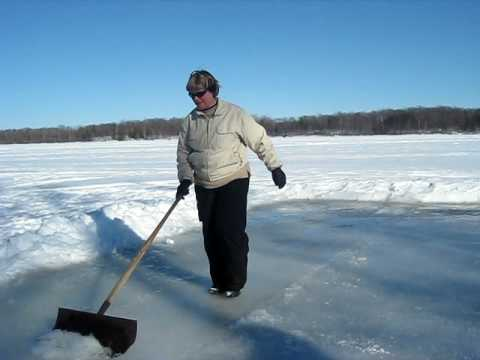 Lesley prepares for curling in 2014 Olympics–Feb 2010.AVI
