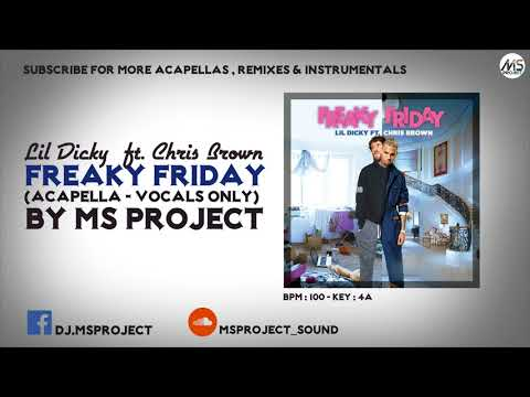 Lil Dicky Ft. Chris Brown - Freaky Friday (Acapella - Vocals Only)