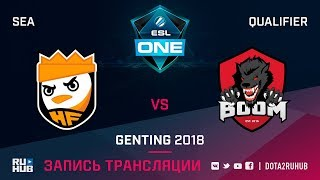 HappyFeet vs BOOM ID, ESL One Genting SEA Qualifier, game 1 [Lex, 4ce]