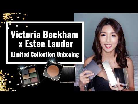 Victoria Beckham x Estee Lauder Limited Edition Make Up Unboxing