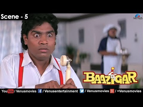 Johnny Lever on phone (Baazigar) Movie Review & Ratings  out Of 5.0