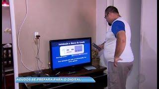 Antenistas fazem instalações dos kits digitais em bairros de Agudos