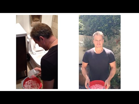 Matt Damon and toilet water