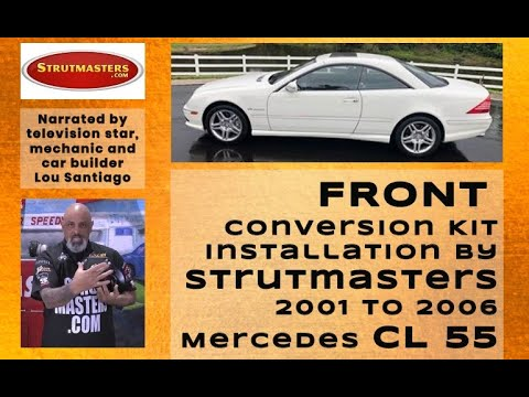 2001-2006 Mercedes CL55 Front Suspension Conversion Kit Installation