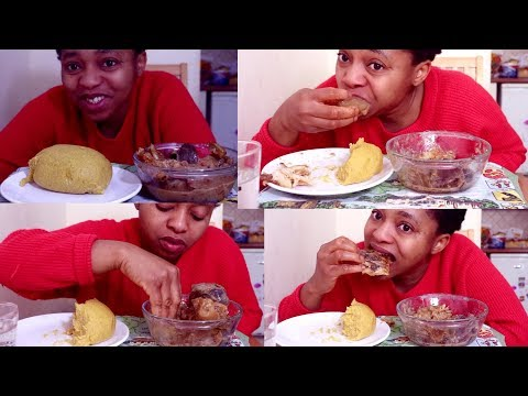 Mukbang | Nigerian Food | OFe Nsala Soup & Butternut Squash Fufu | Eating Fufu At 9am In The Morning
