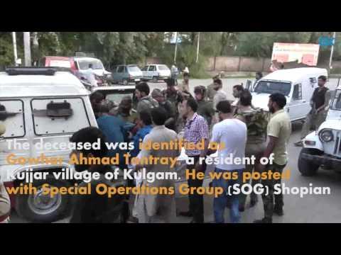 Policeman shot dead in south Kashmir's Kulgam