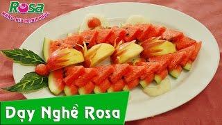Trang trí đĩa trái cây lạnh - xếp trái cây dĩa
