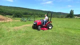 7. 2015 Mahindra Max 22 Compact Tractor Belly Mower 4X4 Diesel 3 Point Hitch 540 PTO
