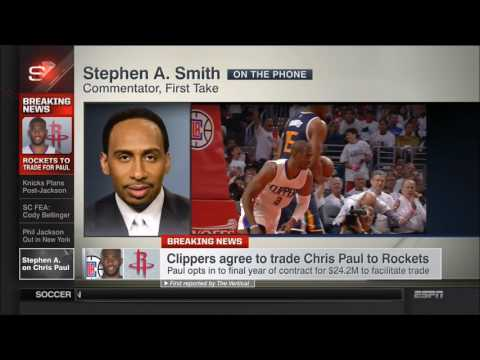 Stephen A. Smith says Carmelo Anthony will sign with Rockets if bought out