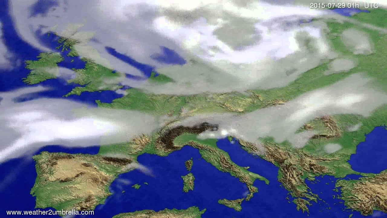 Cloud forecast Europe 2015-07-25