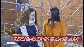 Así son las galas solidarias que encabeza Marianela en San Martín. Ella es primera bailarina del Royal Ballet de Londres pero siempre vuelve a su ciudad con un fin solidario