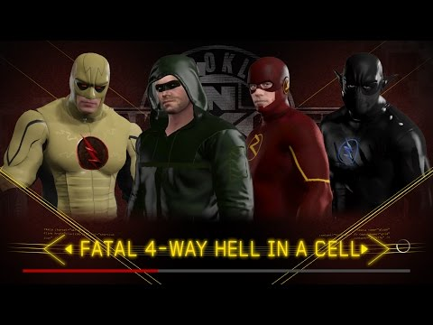 WWE 2K17- THE FLASH VS SPIDERMAN VS ZOOM VS REV FLASH- FATAL 4 WAY HIAC