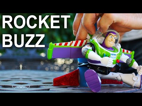 rocket - Is he flying, or falling with style? You be the judge! In this project I taped Buzz Lightyear to a rocket and sent him to infinity and beyond! Subscribe for new videos every 5 days! http://bit.ly/...