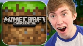 MINECRAFT: POCKET EDITION - Part 1 (iPhone Gameplay Video)