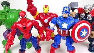 Video Marvel Mashers! Hulk, Spider Man, Captain America, Iron Man, Thor's body have changed!! - DuDuPopTOY MP3, 3GP, MP4, WEBM, AVI, FLV Desember 2018