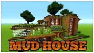 Minecraft: MUD HOUSE/DIRT HOUSE. MUD HUT TOUR