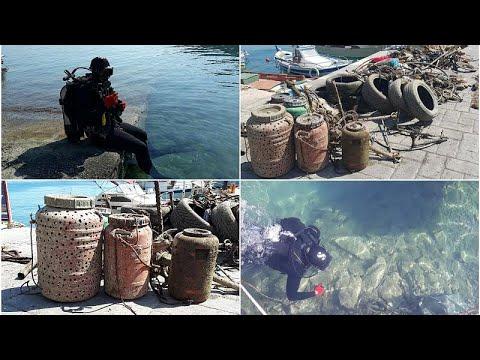 Αφαίρεσαν 800 κιλά σκουπίδια από τον βυθό στο Τολό