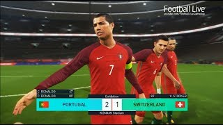 Video PES 2018 | PORTUGAL vs SWITZERLAND | Cristiano Ronaldo amazing 2 goals | Gameplay PC MP3, 3GP, MP4, WEBM, AVI, FLV Februari 2018