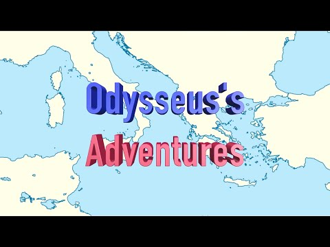 Odysseus's Long Journey from Troy To Ithaca - Animated Map