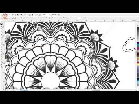 How To Trace Jewellery Design In Coreldraw Part 1