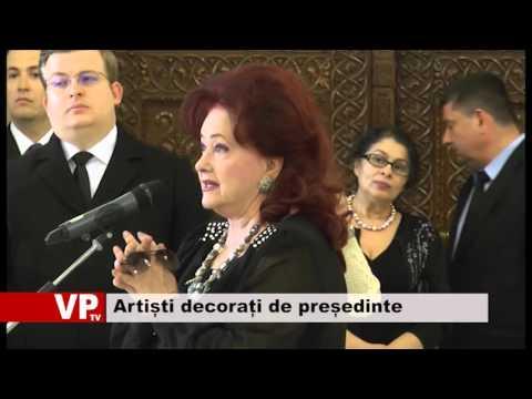 Artiști decorați de președinte
