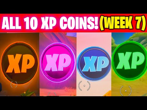 All XP COINS LOCATIONS IN FORTNITE SEASON 4 Chapter 2 (WEEK 7 Challenges)