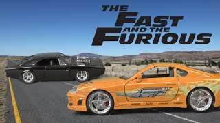 Nonton Fast and Furious 7 Twin Pack Dom's Charger (Black) and Brian's Supra (Orange) from Jada Toys Film Subtitle Indonesia Streaming Movie Download