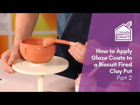 How To Glaze A Biscuit Fired Small Pot Part 2 | Craft Academy