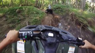 8. Sunday ATV ride on the Arctic Cat 550 & XR 500 Part 2