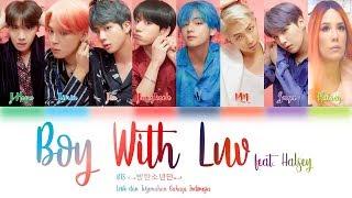 Video Lirik dan Terjemahan BTS - (Boy With Luv) feat. Halsey Lyrics Color Coded (Han/Rom/Indo) MP3, 3GP, MP4, WEBM, AVI, FLV April 2019