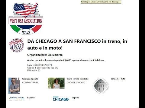 Video DA CHICAGO A SAN FRANCISCO in treno, in auto e in moto! (8-5-2018)