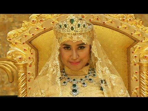 حفل زفاف أسطورى لولى عهد سلطان بروناى