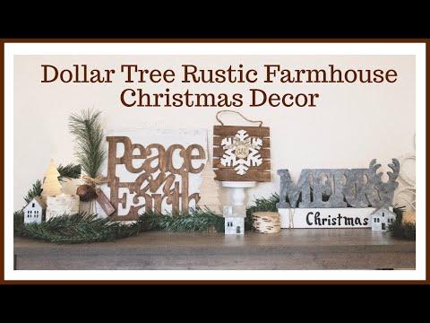 Dollar Tree Farmhouse Christmas DIY Friend Friday Hop #friendfridayhop #friendfriday#heidisonbouldiy
