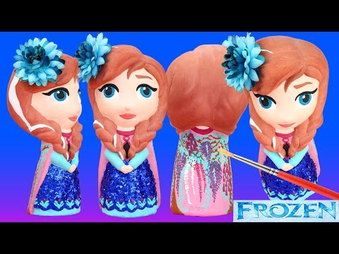 FROZEN ANNA DRESS FOREST FLEUR Paint Your Own Make How-To KidsToys