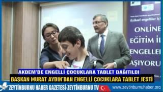 Başkan Aydın Akdem'de Tablet Dağıttı