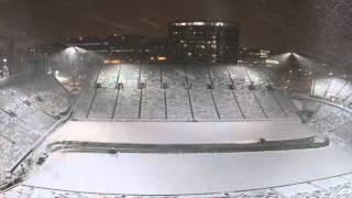 Kinnick Stadium Snow Removal TimeLapse