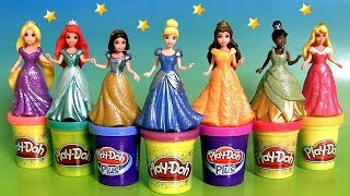 Video Design a Dress for 7 Disney Princess MagiClip Toys using Play-Doh Sparkle MP3, 3GP, MP4, WEBM, AVI, FLV Januari 2019