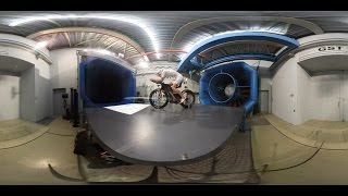 Take a 360 view into the #windtunnel.We tested DT Swiss wheels with our aerodynamic partner Swiss Side and the triathletes Ruedi Wild and Anja Beranek.#Roadrevolution18 #aerodynamicsbyswisssideFilmed with a Nikon Key Mission 360