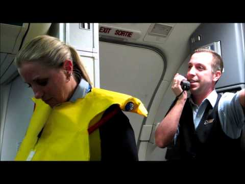 flight attendant jumps - Tommy has Autism and ALWAYS says