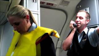 Video Hilarious Westjet flight attendant before takeoff with Tommy MP3, 3GP, MP4, WEBM, AVI, FLV Agustus 2018